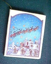 """Vintage Miniature """"The Night Before Christmas""""  Book Ornament  16 pages & pics"""