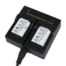 Dual Charger +2x 1240mAh Battery for Sony NP-BX1 HDR-AS15 AS15K HDRAS15 HDRAS15K