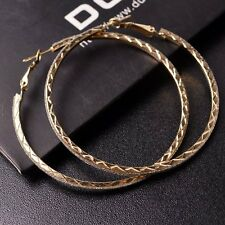 New Women Big Thin Circular Sparkle Round Hoop Earrings Valentine's Day US194