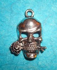 Pendant Skull Charm Day of the Dead Charm Skeleton Head Tattoo Charm Gothic