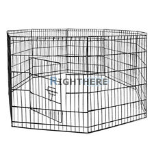 "NEW 36"" 8 PANELS FOLDABLE ENCLOSURE FENCE DOG PLAY PEN RABBIT CAGE PET KENNEL L"