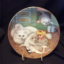 """Country Kitties Collectors Plate """"Captive Audience"""" Hamilton Collection 1988"""