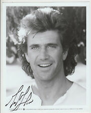 Mel Gibson 1990 movie star 26cm x 20cm signed photograph original & letter