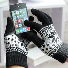 Warm Winter Gloves Knitted Touch Gloves Men Women Gloves Touch Screen Glove Blac