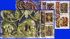 GREECE MOUNT ATHOS (Agion Oros) 2015 3rd Issue Wood Carving C' FDCs FREE SHIP