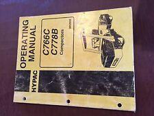 HYPAC C766C C778B 778 766 VIBRATORY COMPACTOR ROLLER OPERATING OPERATOR MANUAL