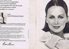 PUBLICITE ADVERTISING 045 1976 ESTEE LAUDER maquillage  (2 pages)