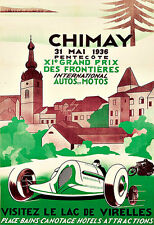Art Ad Chimay Xi Grand Prix 1936 Auto Moto's Race Car Deco  Poster Print