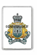ROYAL GIBRALTAR REGIMENT (CAP BADGE) FRIDGE MAGNET