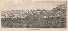 A1450 Terracina - Veduta - Xilografia - Stampa Antica del 1895 - Engraving