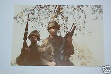 WOW Vintage Military US Army Soldiers Machine Guns Photograph Photo Rare 1980s