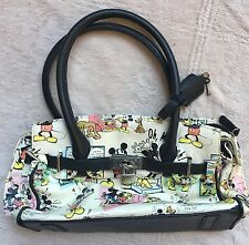Disney Mickey Mouse Cartoon Comic Vintage, Satchel Purse w/ Lock & Key