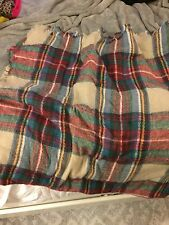 Oversized Plaid Scarf Blanket Zara Wool Like Wrap