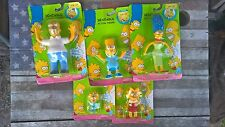 Set of 5 Simpson Bendable Action Figures 1990