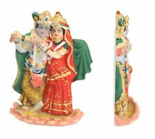 MINI INDIAN HINDU GOD RADHA KRISHNA STATUE MURTI COLOURED FLAT