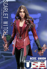 1/6 Scarlet Witch Head Figure Full Set For Captain America Civil War PRE-ORDER
