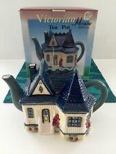 CRAKER BARREL VICTORIAN HOUSE Ceramic TEA POT Figural KD 13054 1988