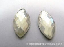 STRASS Termoadesivi Cristallo trasparente 15mmX 7mm 10pz ovale cabochon pietra