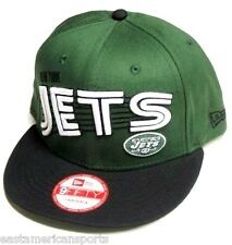 New York Jets NFL NEW ERA Green Swoop 9Fifty Hat Cap Flat Brim Visor Snapback