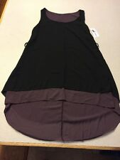 NEW Fashion Made In Italy Black Sheer  Large xl NWT Polyester sleeveless HI-LO
