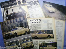 QUATTROR970-PROVA SU STRADA/ROAD TEST-1970- ROVER 3500 V8 - 6 fogli
