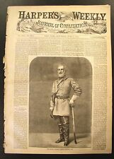 Robert E. Lee Original Harper's Weekly July 2, 1864 - Sherman, Escaped Slave etc