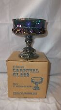 "Iridescent Colored Carnival Glass 5"" Wedding Bowl Goblet Dish"