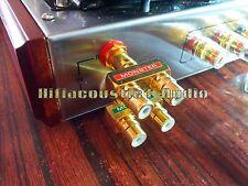 2x hifi RCA AV Audio Vedio Splitter Adapter 1 Male To 2 Female Gold Plated Plug