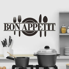Removable bon APPetit Wall Sticker Decal Mural For Living Room Kitchen Decor Diy