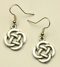 Hand Made Silver Colour Celtic Knot Earrings HCE367