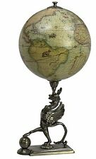 Rustic Vintage Gothic Griffon Globe of Old World Map