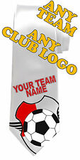 FOOTBALL PERSONALISED NECK TIE *ANY TEAM/NAME/TEXT COLOUR *MEN'S GIFT/PRESENT*