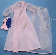 1959 Vtg Barbie #965 Nighty Negligee Outfit Sheer Robe Gown Felt Dog TAG