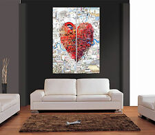LOVE LONDON COLLAGE STYLE Giant Wall Art Print Picture Poster