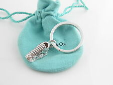 Tiffany & Co RARE Silver Running Shoes Sneaker Key Ring Chain!
