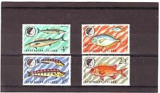 Ascensione-sg126-129w MNH 1970 FISHES - 3 ° SERIE