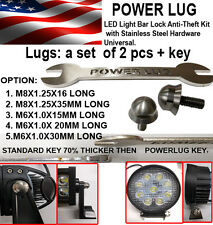 M6-16mm Led Bar , Security bolt ,  Stainless steel Security Lock + custom wrench