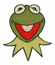 Kermit the Frog Face Patch Muppets Show Character Craft Apparel Iron-On Applique