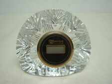 "WATERFORD CRYSTAL 2 1/2"" HIGH x 3 1/8"" WIDE BEDSIDE DIGITAL CLOCK"