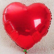10pc Red Heart Foil Helium Balloons Wedding Valentines Birthday Party Decoration