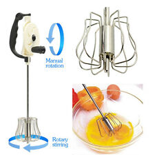 Manual Whisk Miracl Mixer Stainless Steel Hand Mix Whip Froth Rotary Egg beater