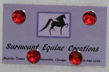 Horse Show Number Magnets - Red Dotted Wave - Saddleseat, Hunt Seat, Western