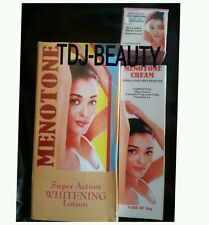 MENOTONE SUPER ACTION WHITENING BODY & DARK SPOT REMOVER SET. FAST ACTION!(TDJ)