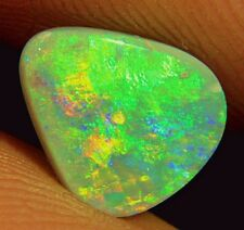 Green-Orange natural Solid Lightning Ridge semi Black Opal 1,6 quilates video