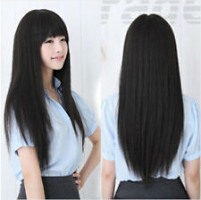 70cm Korean Fashion Long Straight Cosplay Party Women Girl Kawaii Hair Full Wig
