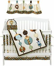 Jungle Tales 8pc Crib Toddler Sized Bedding Set By Nojo Monkey Elephant Giraffe