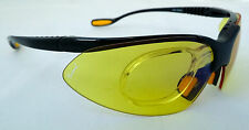 GELSHOCK: Yellow KONTROL SPORTS Prescription Sunglasses