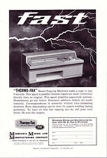 1960 3M THERMO-FAX old vintage Copying Machine Magazine Ad