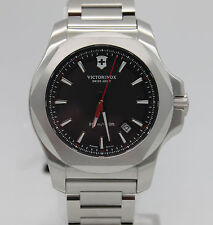 New Victorinox Swiss Army Men's Inox Black Dial Steel Strap 43mm Watch 241723.1