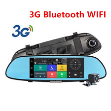 "7""3G Wifi 1080P Car DVR Video Recorder Dual Lens Rearview Mirror Camera Dash Cam"